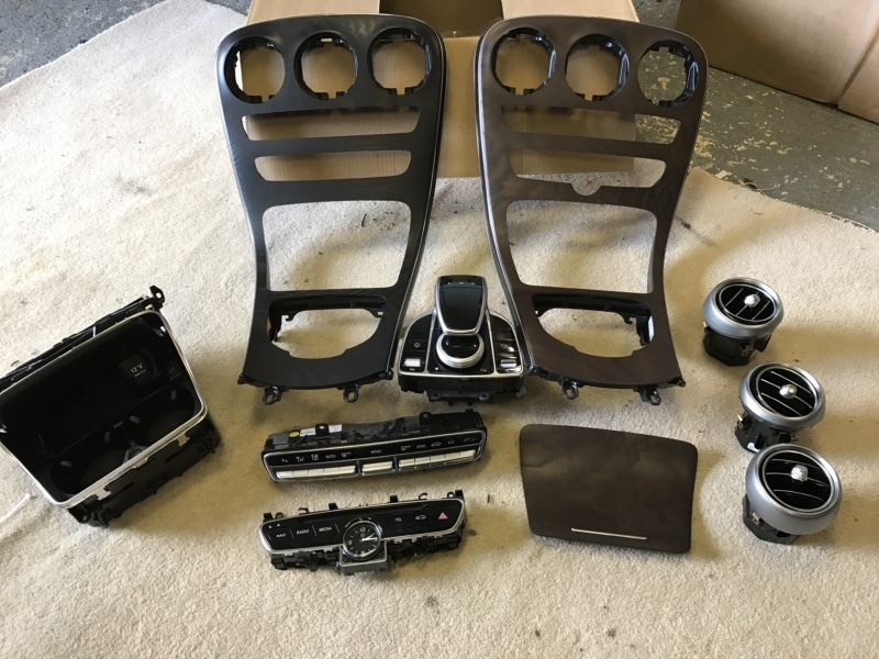 C205 Dash Parts Brown and Black Ash