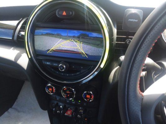 Mini Nav screen showing reversing image