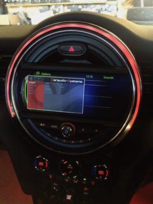 Mini Nav screen showing settings menu